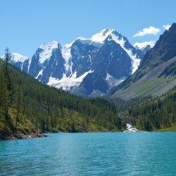 Шавлинские озёра. гора Маашей-Баш и Актру (Алтай)