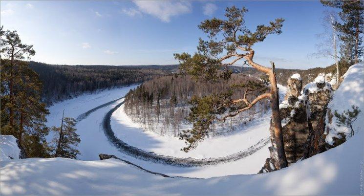 Камень Омутной на реке Чусовой