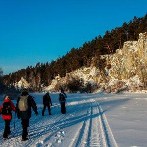 река Чусовая зимой