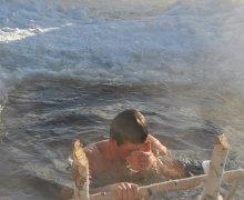 Походная баня с прорубью