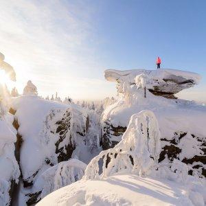 Усьвинские столбы - Каменные город - гора Калпаки