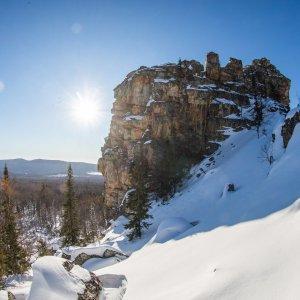 Хребет Кумардак - зимняя сказка Южного Урала.