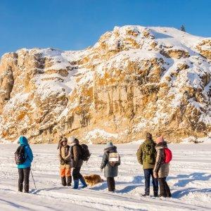 8 января, в ясный морозный день, прогулялись по реке Каме...
