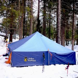 Зимние походы с палаткой (шатром)